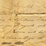 1826 letter from Orrin Crommett to Harriett Ledyard. Baecker Collection