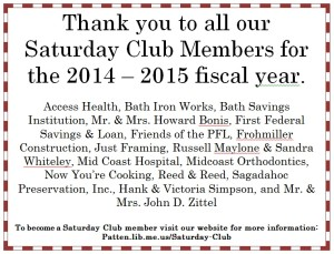 FY 14-15 Saturday Club