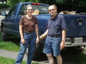 Volunteers Margaret and Richard